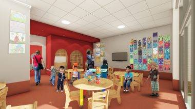 Artist impression of Nursery at The Village